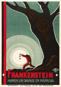 20-Frankenstein Universal- 1931 Swedish One Sheet