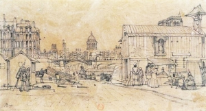 Port_de_l'Hôtel-de-Ville,_Paris,_by_Thomas_Shotter_Boys