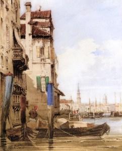Thomas Shotter Boys - A Venetian Scene (Acuarela) (1829) [Colección Privada]