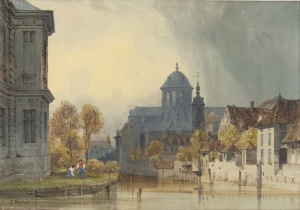 Thomas_Shotter_Boys_(British_-_A_View_of_the_Church_of_Our_Lady_of_Hanswijk,_Mechelen_(Malines),_Belgium_-_Google_Art_Project