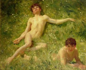 the-sunbathers-henry-scott-tuke