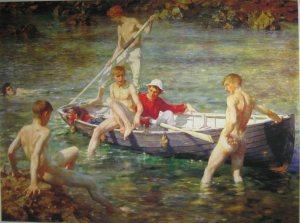 Tuke,_Henry_Scott_(1858–1929),_Ruby,_gold_and_malachite,_1902