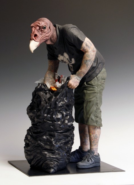 Alessandro_Gallo_Turkey_Vulture_Ceramic_Sculpture
