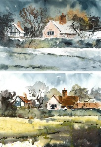 Weston_Green_winter-spring_Hornblower_watercolour
